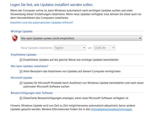 windows update kann nicht nach updates suchen da der dienst nicht ausgeführt wird